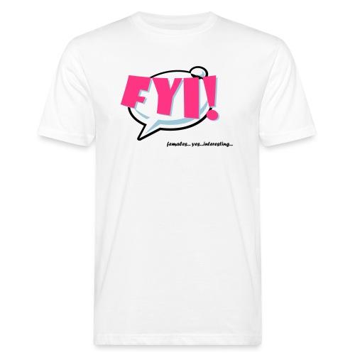 FYI.ai - Miesten luonnonmukainen t-paita