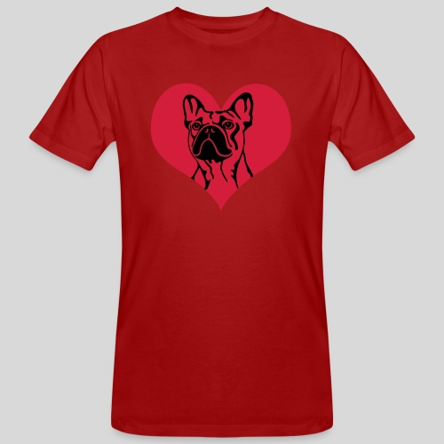FranzBulldogge im Herz - Männer Bio-T-Shirt
