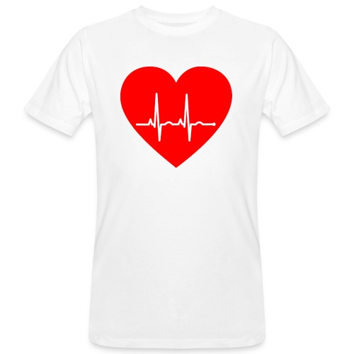 Corazón - Camiseta ecológica hombre