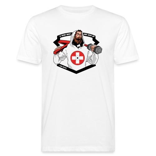 Swiss Fitness Hero - Männer Bio-T-Shirt