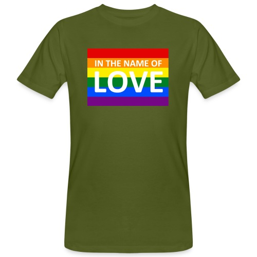 IN THE NAME OF LOVE RETRO T-SHIRT - Organic mænd