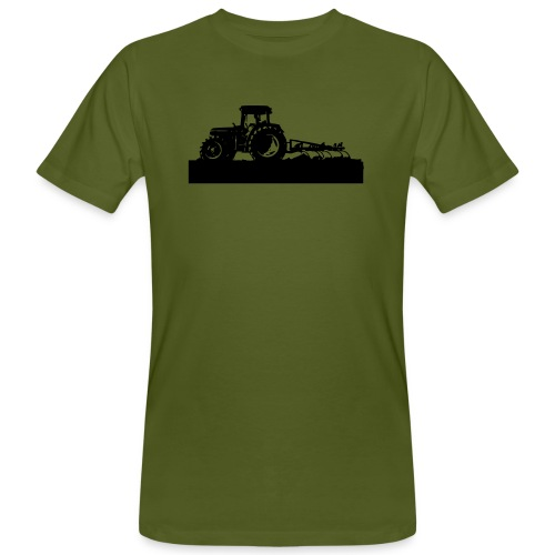 Tractor with cultivator - Men's Organic T-Shirt