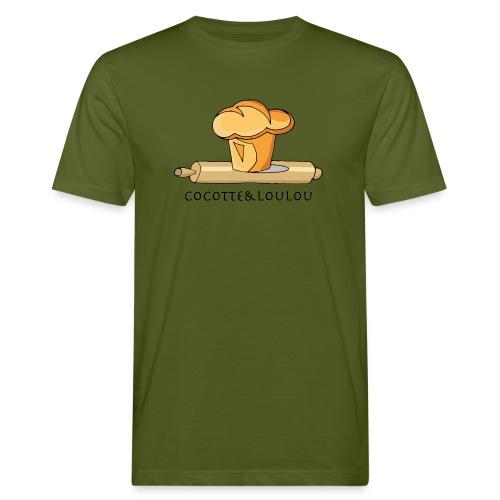 Brioche française et rouleau à patisserie - T-shirt bio Homme