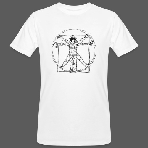 The Vitruvian Gamer - Männer Bio-T-Shirt