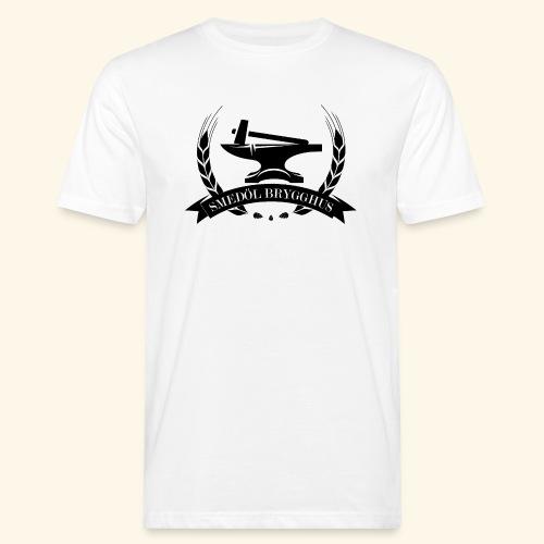 Smedöl Brygghus Logga Svart - Ekologisk T-shirt herr
