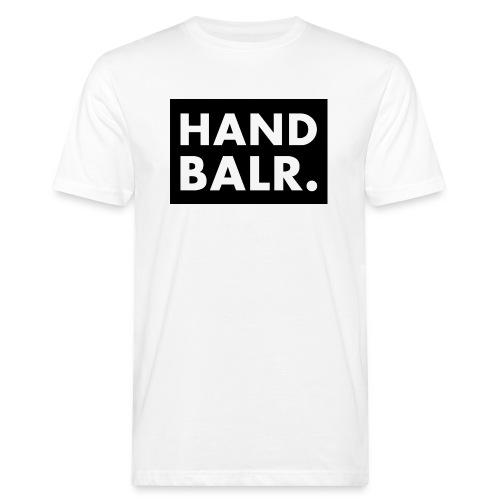 Handbalr Wit - Mannen Bio-T-shirt