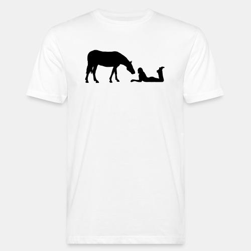 Horsegirl in Love - Männer Bio-T-Shirt