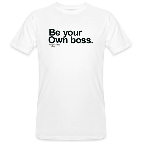 Boss in black - Men's Organic T-Shirt