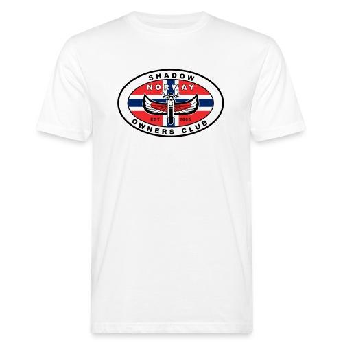 SHOC Norway Patch jpg - Økologisk T-skjorte for menn