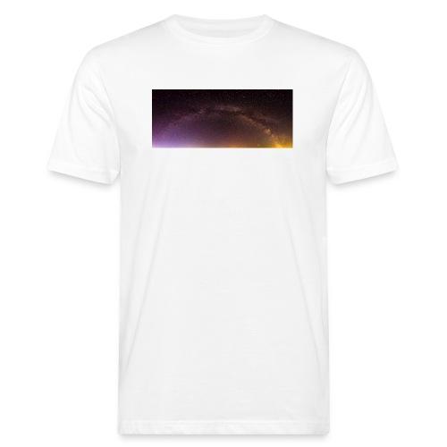 Milchstraße Panorama - Männer Bio-T-Shirt