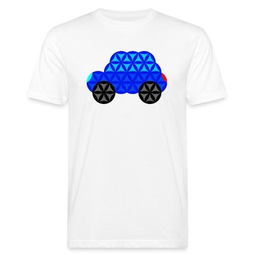 The Car Of Life - M01, Sacred Shapes, Blue/R01. - Men's Organic T-Shirt