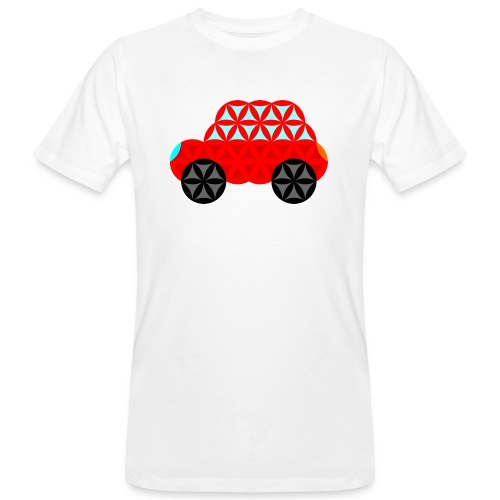 The Car Of Life - M01, Sacred Shapes, Red/R01. - Men's Organic T-Shirt