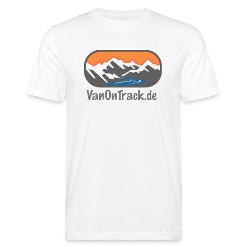 VanOnTrack Logo Berge, See und Freihet - Männer Bio-T-Shirt