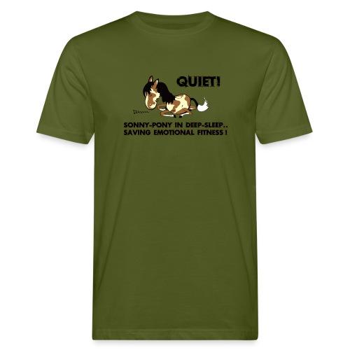 QUIET Sonny Pony in deep sleep - Männer Bio-T-Shirt