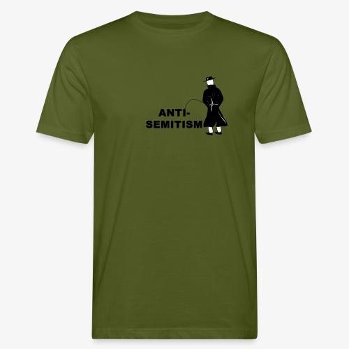 Pissing Man against anti-semitism - Männer Bio-T-Shirt