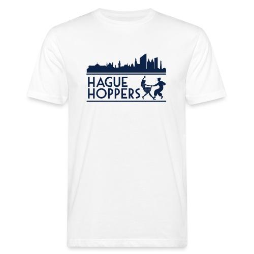 Hague Hoppers logo blue - Mannen Bio-T-shirt