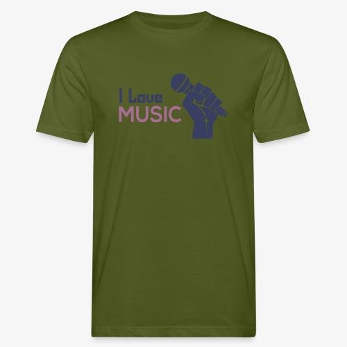 Amo la música - Camiseta ecológica hombre