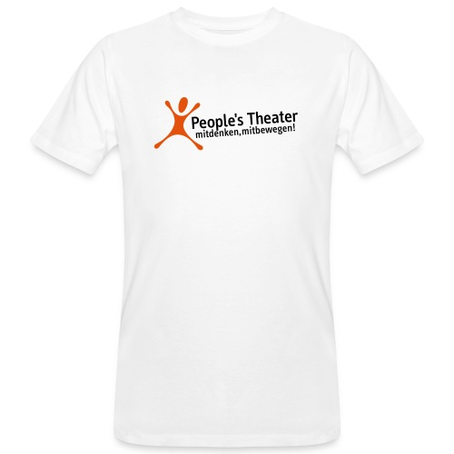 People's Theater Logo - Männer Bio-T-Shirt