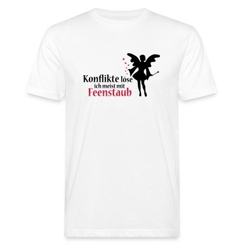 Konflikte löse ich meist mit Feenstaub (Spruch und - Männer Bio-T-Shirt
