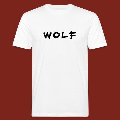 Wolf Font png - Mannen Bio-T-shirt