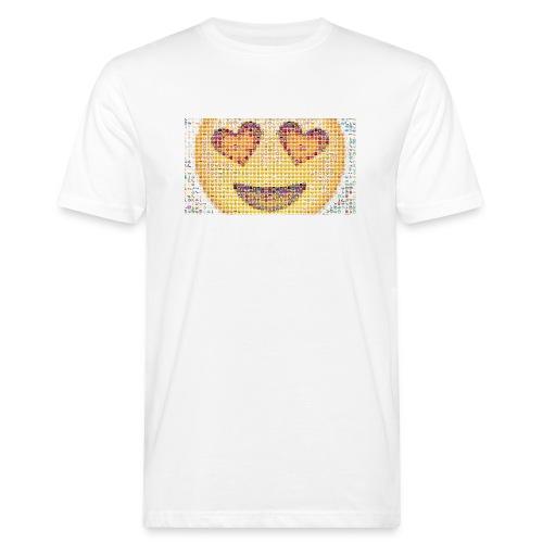 Emoij Hoesje - Mannen Bio-T-shirt