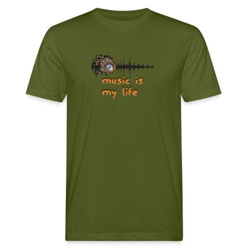Music is my Life - T-shirt ecologica da uomo