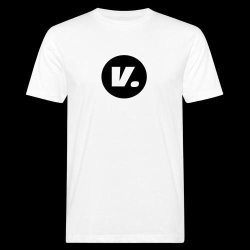 Ventura White V Logo - Mannen Bio-T-shirt