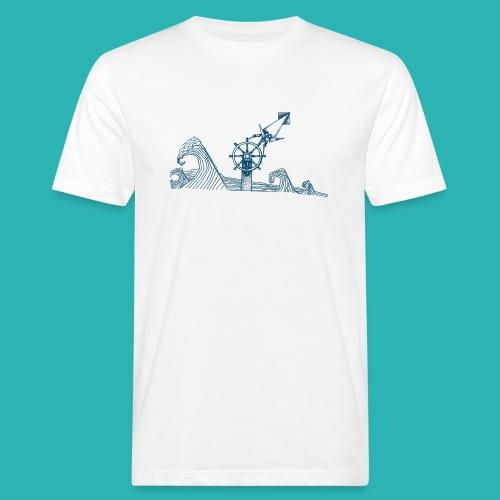 Carta_timone_blu-png - T-shirt ecologica da uomo