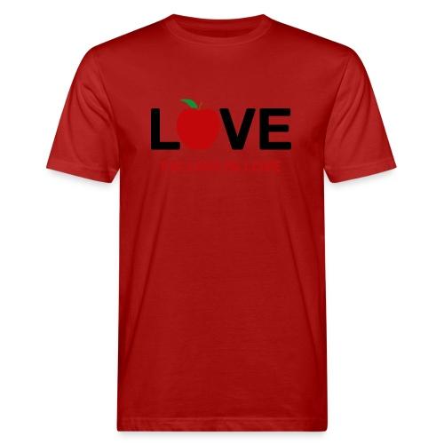 Falling in Love - Black - Men's Organic T-Shirt