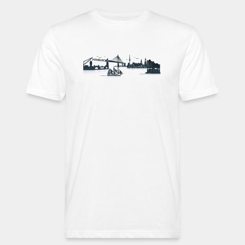 Hamburg Skyline - Männer Bio-T-Shirt