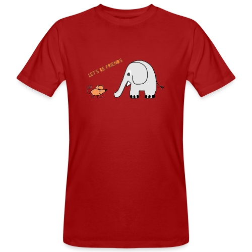 Elephant and mouse, friends - Men's Organic T-Shirt