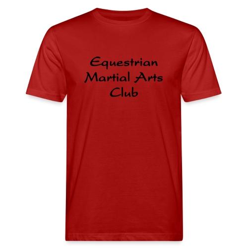 EMAC_logo_teksti - Miesten luonnonmukainen t-paita