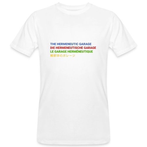 The Hermeneutic Garage - Männer Bio-T-Shirt