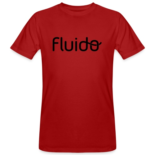 fluidologo_musta - Miesten luonnonmukainen t-paita