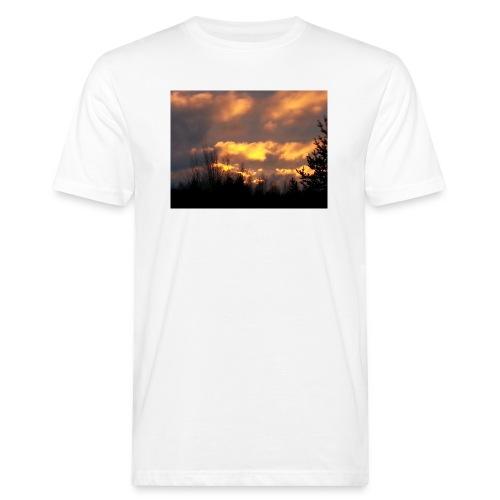 Iltarusko - Miesten luonnonmukainen t-paita