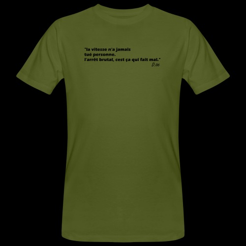 vitesse (noir) - T-shirt bio Homme