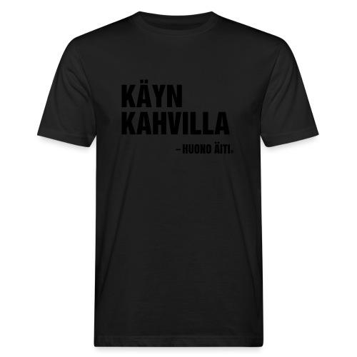 Käyn kahvilla - Miesten luonnonmukainen t-paita
