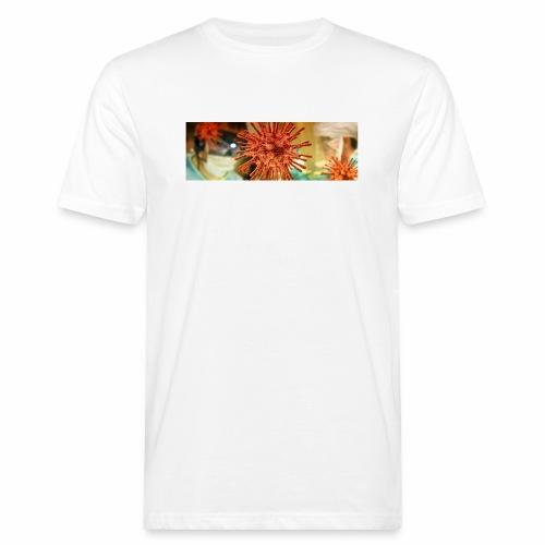 Koronawirus, Coronavirus - Ekologiczna koszulka męska