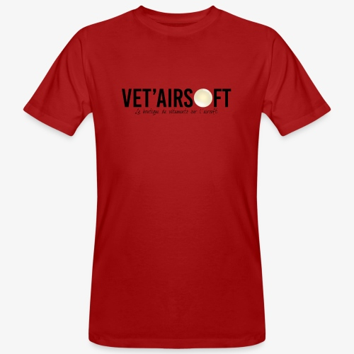 Logo Vet'Airsoft (noir) - T-shirt bio Homme