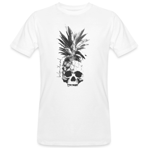 pineapple skull bw - Männer Bio-T-Shirt
