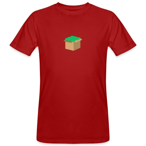 Geld Karton - Männer Bio-T-Shirt