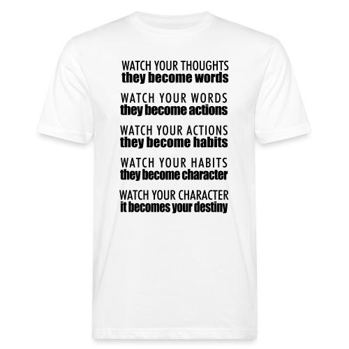 watch your thoughts - T-shirt ecologica da uomo