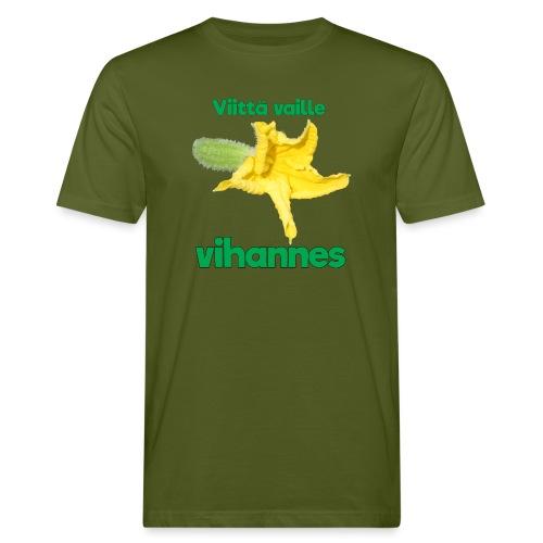 Viittä vaille vihannes, avomaankurkku - Miesten luonnonmukainen t-paita