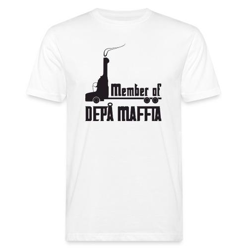 Depå Maffia svart tryck - Ekologisk T-shirt herr
