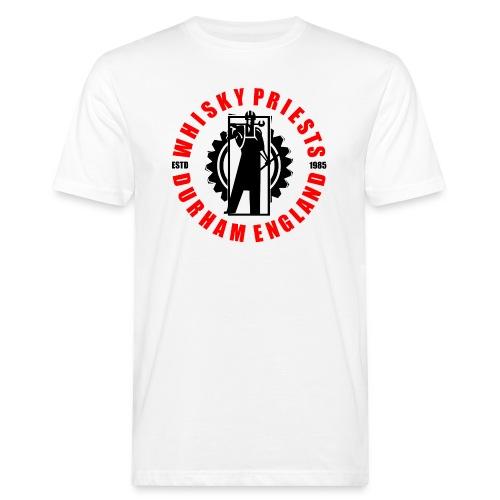 IRON MAN LOGO RED BLACK TRANS - Men's Organic T-Shirt
