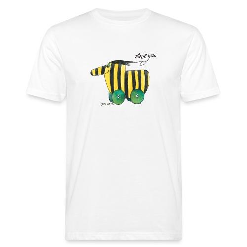 Janosch Tigerente Love you - Männer Bio-T-Shirt
