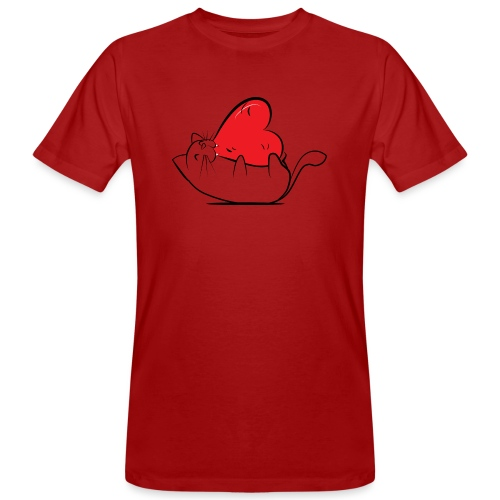 Cat Love - Mannen Bio-T-shirt
