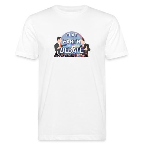 Flat Earth Debate Transparent - Men's Organic T-Shirt