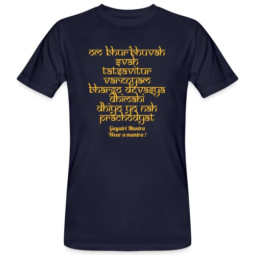 OM Bhur Bhuva Svaha - T-shirt ecologica da uomo