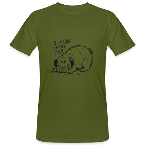 Living on the edge BLACK - Men's Organic T-Shirt